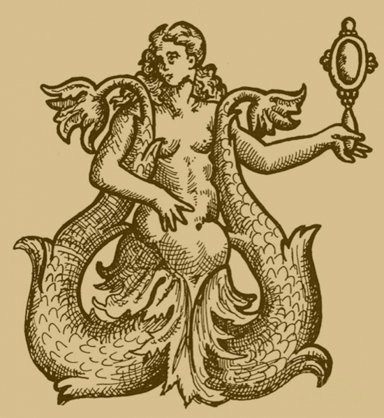 Sirena, incisione francese, 1573.